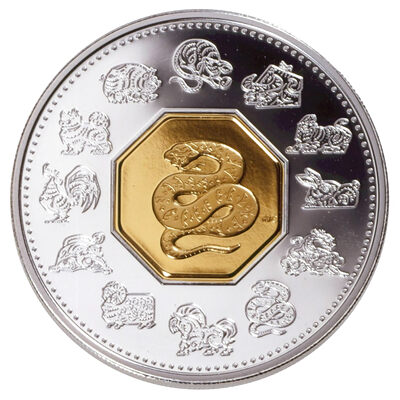$15 2001 Silver Coin - Year of the Snake