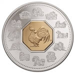 $15 2005 Silver Coin - Year of the Rooster