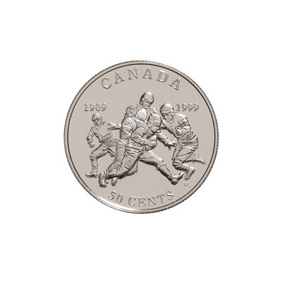 50c 1999 Silver Coin - First Grey Cup Game