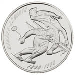 50c 1998 Silver Coin - First Canadian Ski Running/Ski Jumping Championship