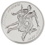 50c 1998 Silver Coin - First Official Amateur Figure Skating Championship