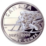 50c 2000 Silver Coin - First Recorded Hockey Game