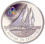 $20 2000 Silver Coin - The Bluenose