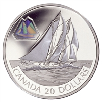 2000 $20 Silver Coin - The Bluenose