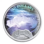 $30 2007 Silver Coin - Panoramic Photography in Canada, Niagara Falls