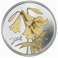 50c 2004 Silver Coin - Golden Easter Lily