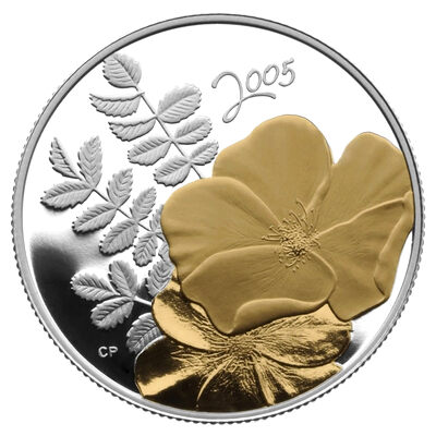 50c 2005 Sterling Silver - Golden Rose