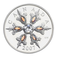 $20 2007 Sterling Silver Coin - Iridescent Crystal Snowflake