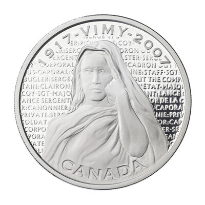$30 2007 Silver Coin - Canadian National Vimy Memorial
