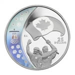 $25 2007 Sterling Silver Hologram Coin - Vancouver 2010 Olympic Winter Games - Athletes' Pride