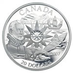 $20 2007 Silver Coin - Polar Year