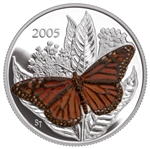 50c 2005 Silver Coin - Monarch Butterfly