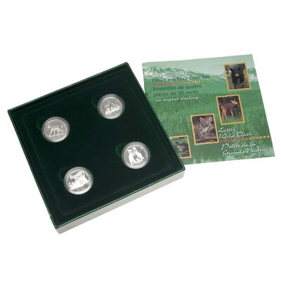 50c 1996 Silver Coin Set - Little Wild Ones Series