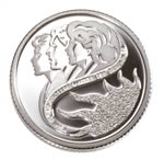 10c 2001 Silver Coin - International Year of the Volunteers