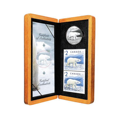 $2 2004 Silver Coin and Stamp Set - Proud Polar Bear