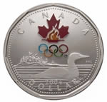 $1 2004 Sterling Silver Coin - Lucky Loonie