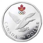 $1 2006 Sterling Silver Coin - Silver Loon Settling