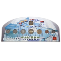 2001 Collector Coin Board - Includes eight coins, display stand and special RCM medallion