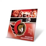 2007 Ottawa Senators Commemorative Coin Set with Colourised Quarter