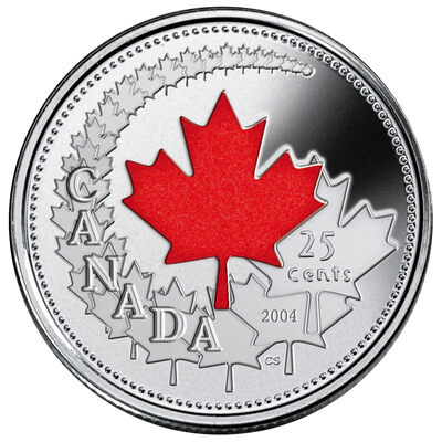 25c 2004 Canada Day