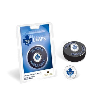 2008 $1 Toronto Maple Leafs Coin & Puck