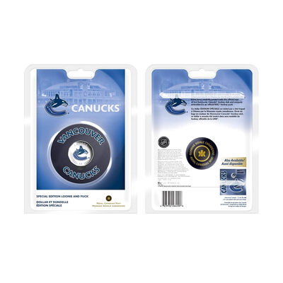 $1 2008 Vancouver Canucks Coin and Puck