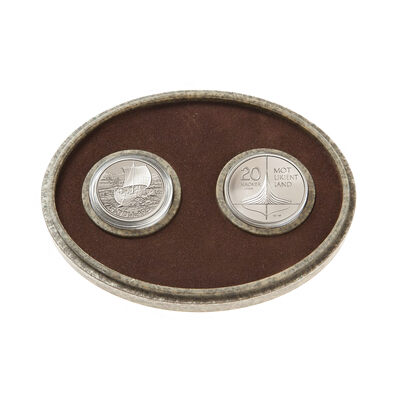 $5 1999 Silver Coin Set - The Vikings and the Vinland Voyages