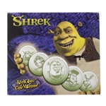 2001 Shrek Medallion & Sticker Set