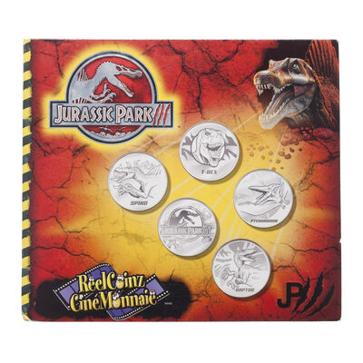 2001 Jurassic Park Medallion & Sticker Set