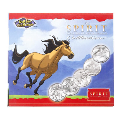 2002 The Spirit Stallion of the Cimarron Collection Medallion & Sticker Set