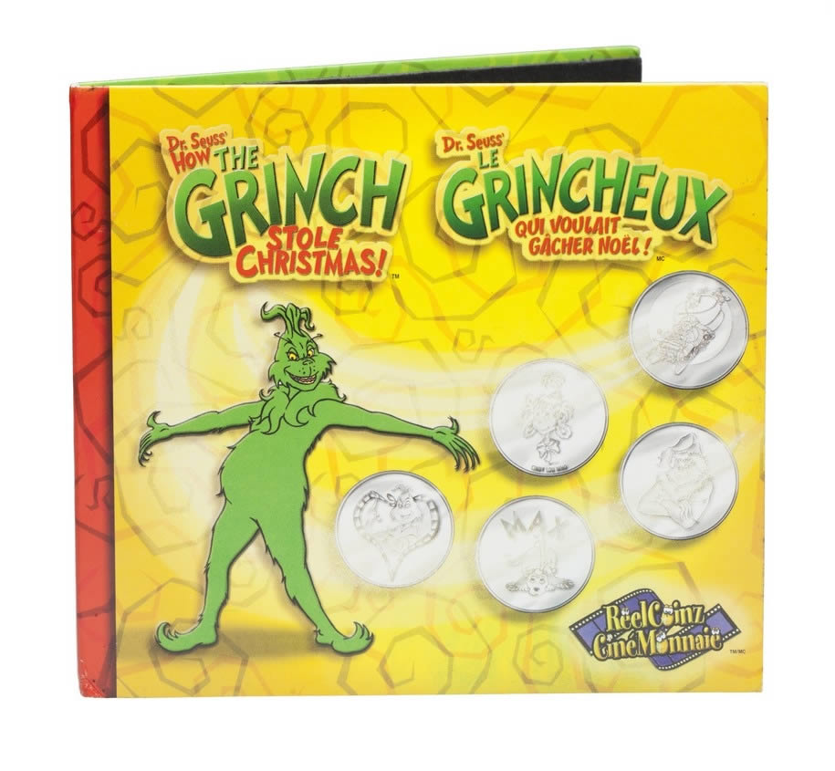 Grinch That Stole Christmas.2001 Dr Seuss How The Grinch Stole Christmas Medallion Sticker Set