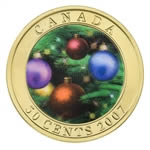 50c 2007 Lenticular Coin - Holiday Ornaments