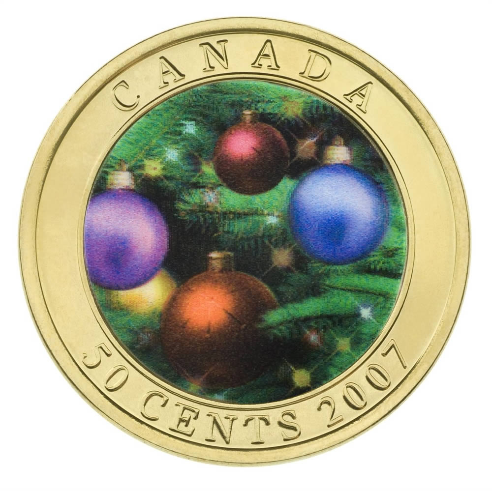 2007 50c Holiday Ornaments Lenticular Coin