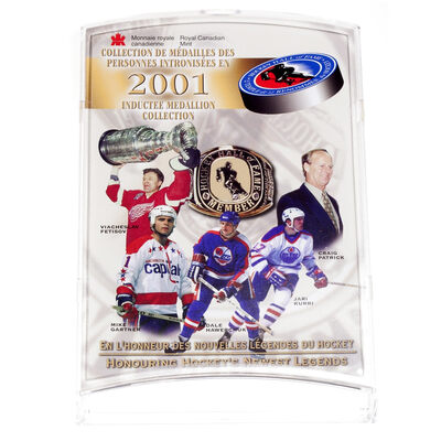 2001 Hockey Hall of Fame Inductee Medallion Collection