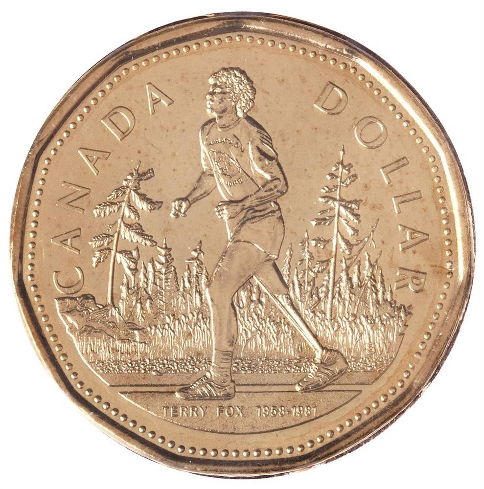 1 2005 Official First Day Terry Fox Coin Royal Canadian