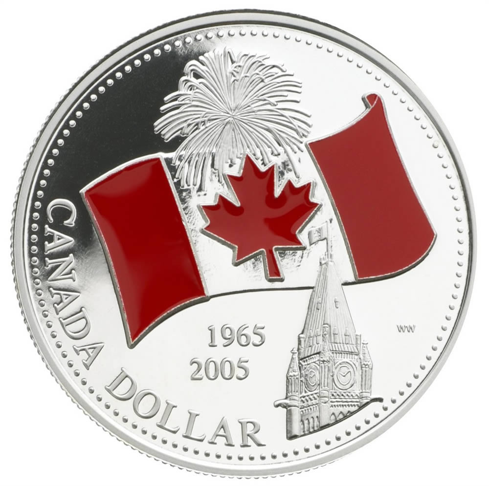 1 2005 Proof Silver Coin 40th Anniversary Of Canada S