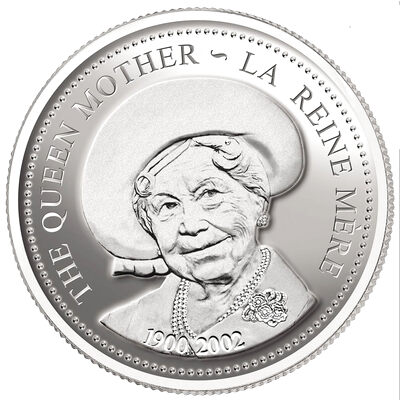 $1 2002 Silver Coin - Queen Elizabeth the Queen Mother