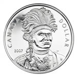 $1 2007 Silver Uncirculated Coin - Thayendanegea