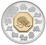 $15 2008 Lunar Cameo Coin - Year of the Rat