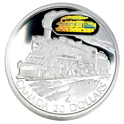 $20 2002 Silver Coin - D-10 Locomotive
