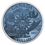 $20 2007 Silver Coin - Polar Year - Plasma