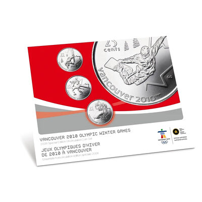 2008 Vancouver 2010 Winter Olympic Games Special Edition Uncirculated Set