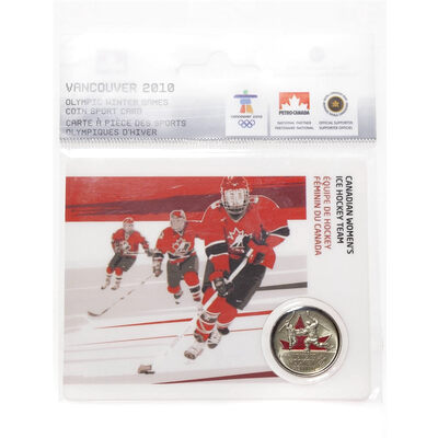 25c 2009 Vancouver 2010 - Canadian Women's Ice Hockey Team - Olympic Sports Card