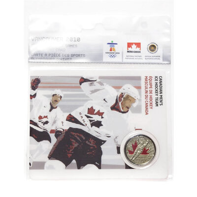 25c 2009 Vancouver 2010 - Canadian Men's Ice Hockey Team - Olympic Sports Card