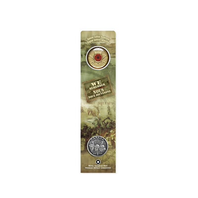 25c 2005 We Remember Poppy Bookmark and Lapel Pin