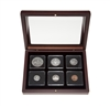 1965 Uncirculated Coin Set in Custom Mahogany Display Case