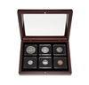 1966 Uncirculated Coin Set in Custom Mahogany Display Case