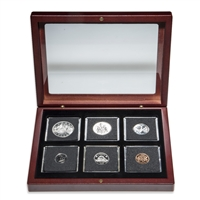 1969 Uncirculated Coin Set in Custom Mahogany Display Case