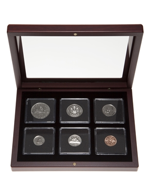 1975 Proof-Like Coin Set in Custom Mahogany Display Case