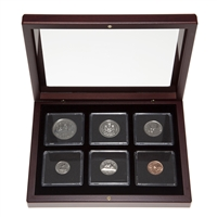 1977 Uncirculated Coin Set in Custom Mahogany Display Case